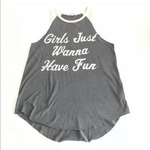 JUNK FOOD •Girls Just Wanna Have Fun• Tank Top (S)
